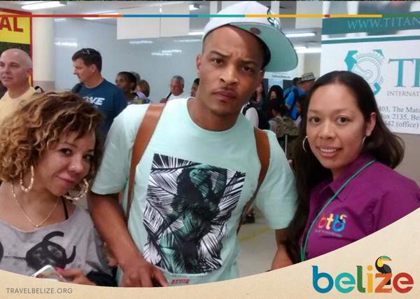 T.I is in belize