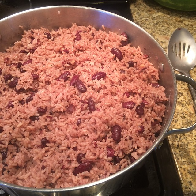 the famous belizean rice and beans