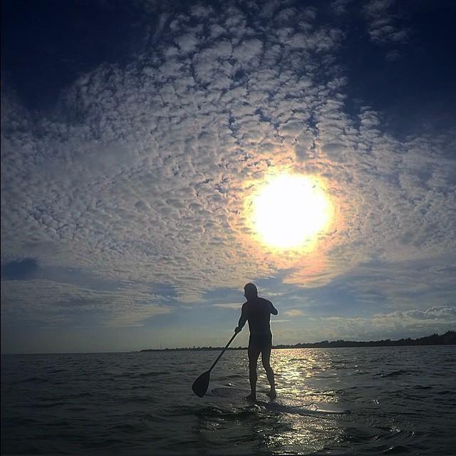 paddle boarding in belize