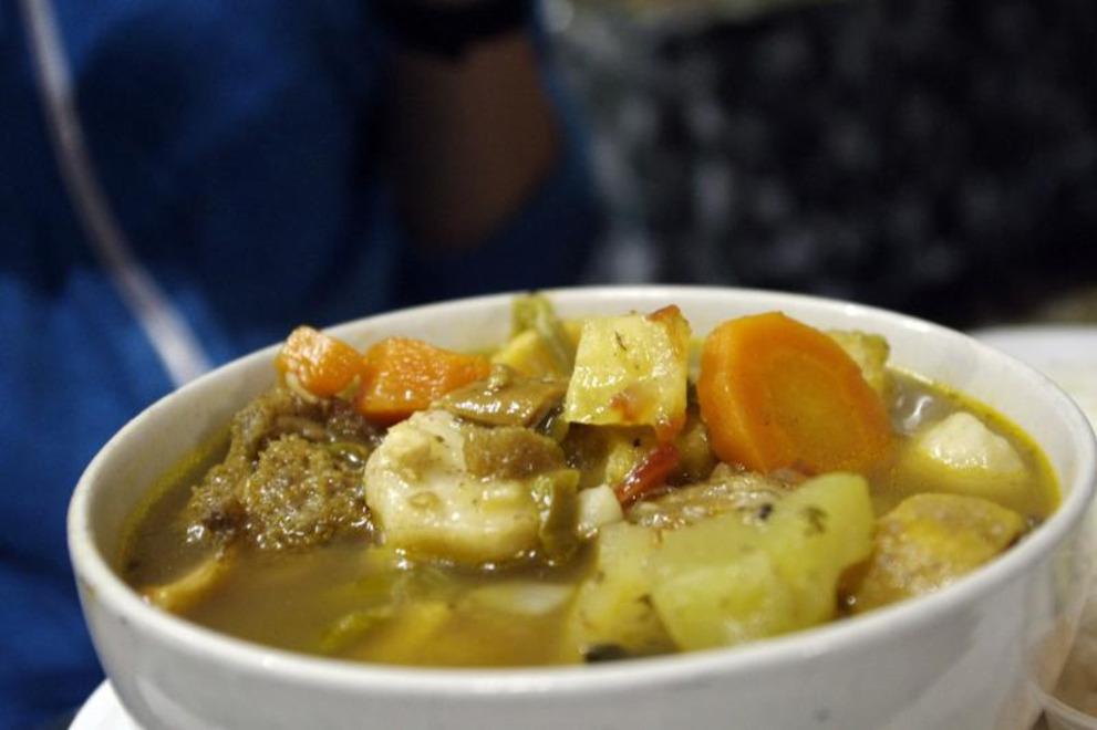 cow foot soup belize food