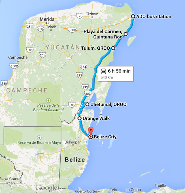 the best way to get to belize from cancun mexico