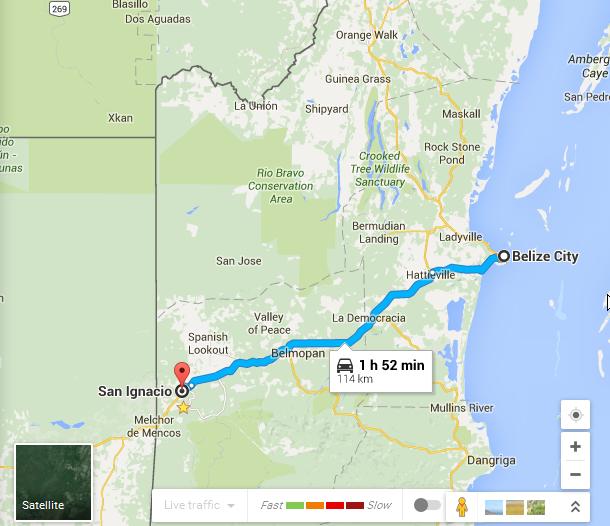 Belize City to San Ignacio
