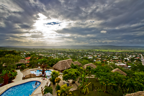 View Of San Ignacio Town From Cahal Pech Village Resort